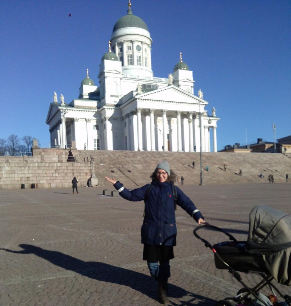 Bilden är tagen innan jag startade min jakt på att ta mig in i kyrkan med barnvagn