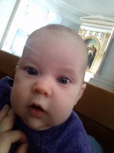 Saga tog en selfie i Domkyrkan