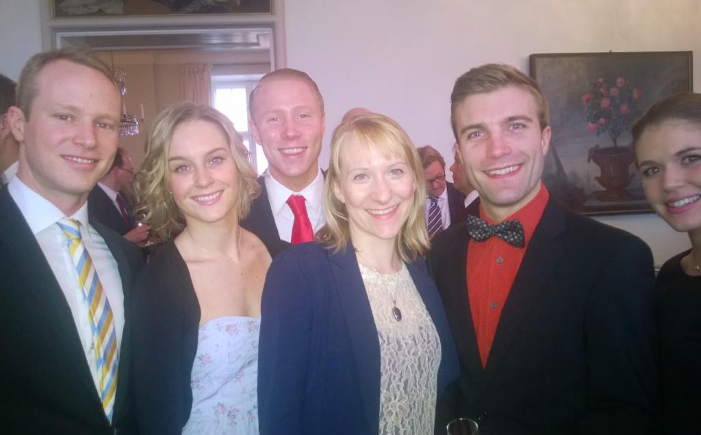Urban, Jonna, Carl-Johan, Oscar & Lovisa från Mamma Mia-ensemblen var glada över tillställningen!